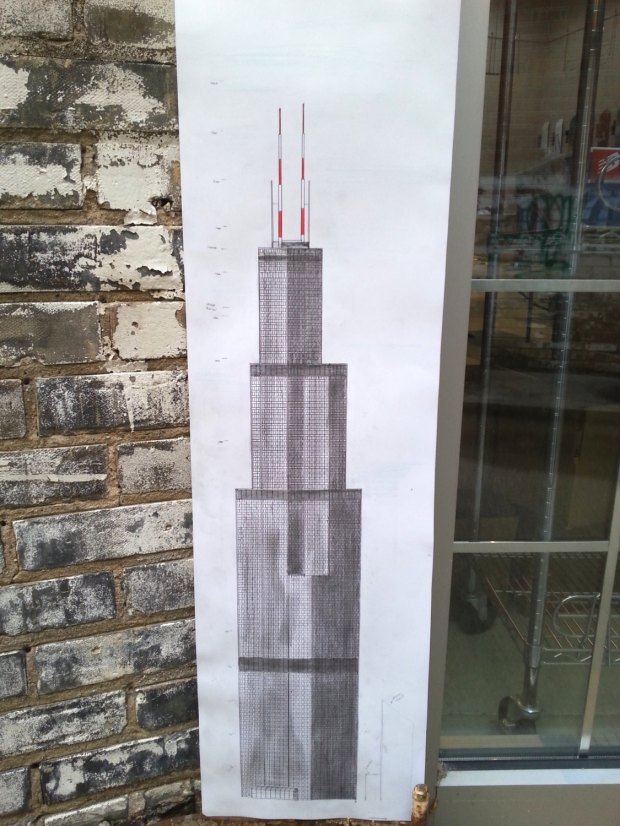 Tom Salazar, 'Hand Drawn Sears Tower'