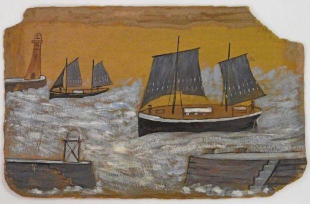 Alfred Wallis, 'Harbour Scene'