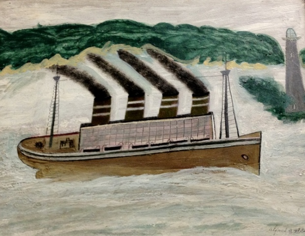 Alfred Wallis, 'The Steamer'