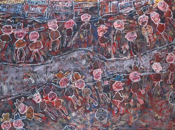 Jean Dubuffet, 'Spinning Round', 1961, Tate.
