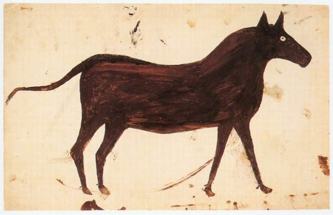 Bill Traylor, Brown Mule, 1939 [source: www.petulloartcollection.org]