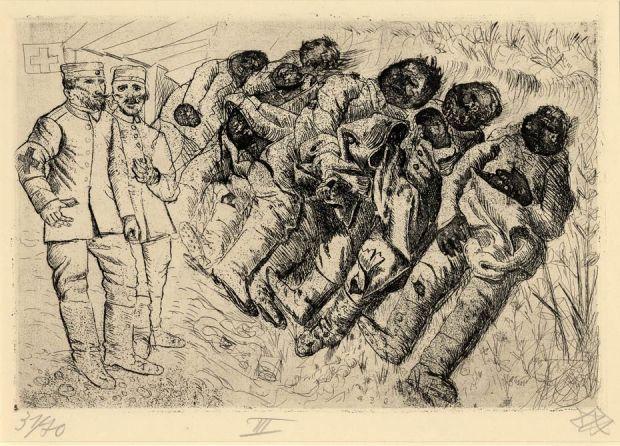 Otto Dix, Gastpte - Templeux-la-Fosse, August 1916 (Gas Victims - Templeux-la-Fosse, August 1916), 1924 [Courtesy of: www.port-magazine.com]