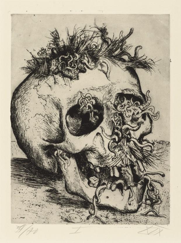 Otto Dix, Schädel (Skull), 1924 [Courtesy of: www.deborahfeller.com]
