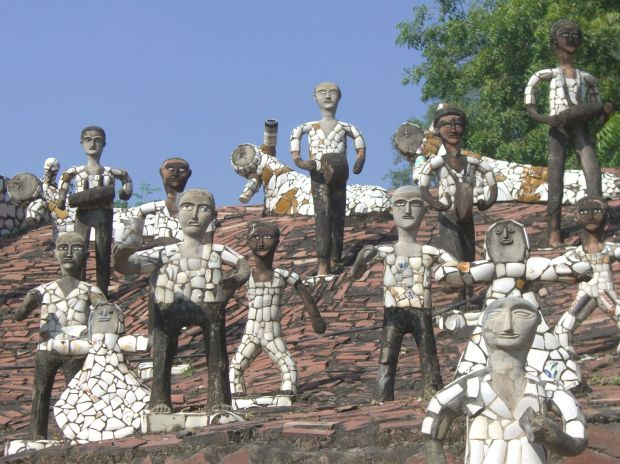 Nek Chand, photo from the Rock Garden in Chandigarh