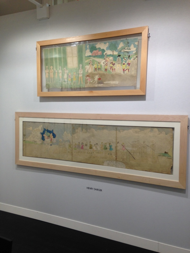 Henry Darger's work at the Carl Hammer stall