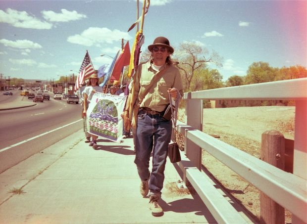 Image 4 - George walking through New Mexico